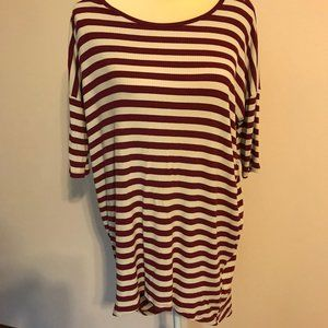LuLaRoe Women's Irma Striped Tunic M